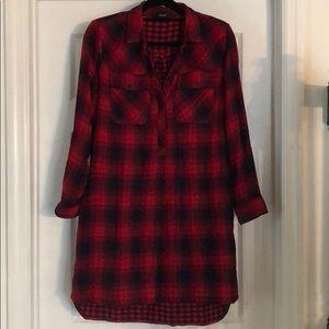 Plaid Madewell Shirt Dress